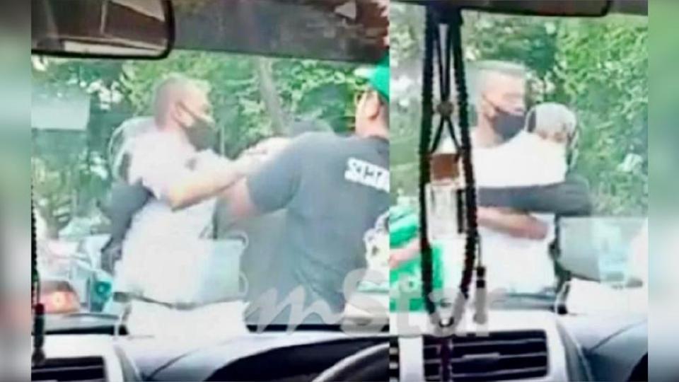 Rakaman video pergaduhan Lan Pet Pet dengan lelaki penghantar makanan dipercayai dirakamkan seorang wanita yang berada dalam kereta.