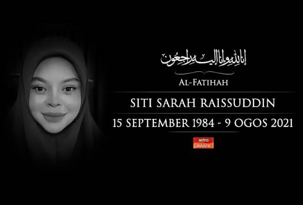 COVID-19: Dr Noor Hisham ucap takziah atas pemergian Siti Sarah