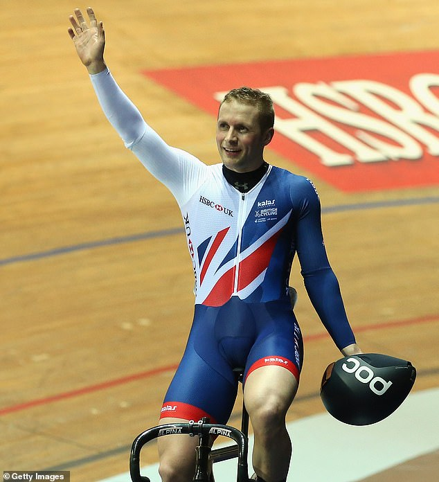 British cyclist Jason Kenny cycling with young son Albert and nearly dies when van drives at them | Daily Mail Online